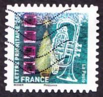 Oblitération Moderne Sur Autoadhésif De France N°  505 - Voeux 2011 - Musique - Trompette - France