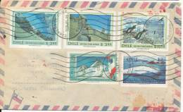 Chile Registered Air Mail Cover Sent To Denmark Osorno 13-4-1981 - Chile