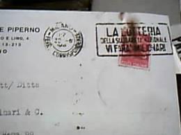 MILANO DITTA PIPERNO CERAMICHE  ANNULLO TARGHETTA LA LOTTERIA DELLA SOLIDARIETA NAZIONALE VI FARA MILIONARI 1949 AE8550 - 1946-60: Poststempel