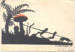 SILHOUETTE SILUETA HONGO 15 OCTOBER 1933 ILLUSTRATEUR RARE VOYAGEE - Silhouetkaarten
