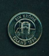 ICELAND  -  1994  1 Kronur  Circulated As Scan - Iceland