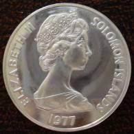 (J) SOLOMON ISLANDS: Silver 5 Dollars 1977 Proof (968) - Salomon