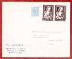 Brief, MiF Madonna Mit Weintraube Im Paar, Brugge Nach Mettmann (36680) - Belgien