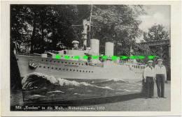 "Fotokarte 1933, Schiff "" Emden "" Matrose Wilhelmshaven - Guerra"