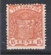01616 Telegrafos Edifil 33* Cat. Eur. 17,- - Télégraphe