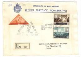VER2110 - SAN MARINO , Fdc Del 29/3/1959. Viaggiata - FDC