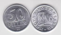 Hungria 50 Filler 1.991 Aluminio KM#574 SC/UNC       T-DL-10.262 - Hungría