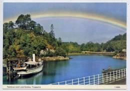Royaume-Uni--TROSSACHS--Rainbow Over Lock Katrine ( Bateau),cpm N° T.0828L   éd  Dennis & Sons - Perthshire