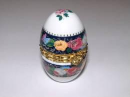 OEUF DECORATIF En Porcelaine - Hauteur 5,5 Cm - Diamètre 3,5 Cm * - Oeufs