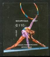 Nicaragua 1987 Rythnmic Gymnastics Games Sport Sc 1653 S/s Cancelled ++1691 - Gymnastics