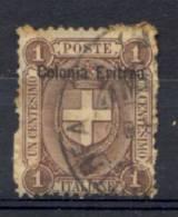 Eritrea 1895 Sass.12 Usato/Used VF/F - Eritrea