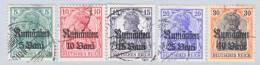 German Occupation Romania 3N 8-12   (o) - Occupation 1914-18