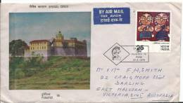 Special Cover Punepex 78 Nice Postmark And Stamp On Front Addressed To Australia Stamps On Rear - India