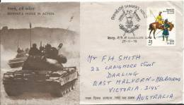 1978 Skinner's Horse In Action Special FDI Postmark Stamp On Front,  Addressed To Australia Stamps On Rear - FDC