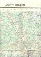 Carte IGN 1/50000 - La Motte Beuvron - édition 1957 - Topographical Maps
