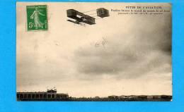 Fêtes De L'Aviation  - Paulhan Battant Le Record Du Monde Le 25 Aout Parcourt (pli Dans Le Milieu) - Meetings