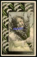 Enfants -  Portrait  Artistique De Fillette  Avec  Fleurs -  Perce-neige -  Art Nouveau   -  Réf : 27126 - Portraits