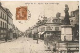 CARTE POSTALE PHOTO ORIGINALE ANCIENNE : LIANCOURT ; LA RUE VICTOR HUGO ; OISE (60) - Liancourt