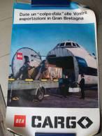 MANIFESTO - BRITISH EUROPEAN AIRWAYS BEA CARGO Aeroplano Whitwoorth Gloster Argosy - Posters