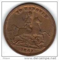 COINS  GRANDE BRETAGNE FAUX TO HANOVER  1861 .   (DP112) - Non Classés