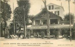 Malmaison Rueil : Hôtel Restaurant Pavillon Joséphine, Face Station Tramway Malmaison. 2 Scans. Edition Gautier - Rueil Malmaison