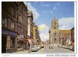 ELBEUF - Eglise Saint Jean Et Les Vieilles Maisons De La Rue Guynemer   - Véhicules Anciens   -  N° 15 - Elbeuf