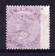 Bermuda - 1874 - 6d Definitive (Wing Margin) - Used - Bermudes