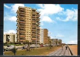 GANDIA ( VALENCIA). EDIFICIO MANILA Y LA PLAYA.ANIMADA,COCHES  CON SELLO  1975 - Valencia