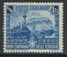 "Italy Italie Italia 1939 Mi 622 * MH- Steam Locomotive  ""Bayardo""(1839) + ETR 200 Express Train (1939)– Italian Railways - Treinen"