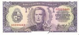 BILLETE DE URUGUAY DE 50 PESOS  SIN CIRCULAR-UNCIRCULATED (BANK NOTE) - Uruguay