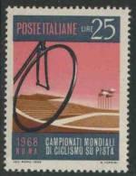 Italy Italie Italia 1968 Mi 1278 YT 1017 ** Cycle Wheel And Stadium – World Road Cycling Champ./ Radweltmeisterschaften - Wielrennen