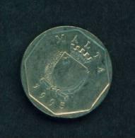 MALTA  -  1995  5 Cents  Circulated  As Scan - Malta