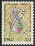 Italy Italie Italia 1996 Mi 2427 ** Quill Pen And Satellite – 50th Ann. National Federation Italian Press / Druckerei - Andere