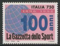 """Italy Italie Italia 1996 Mi 2428 ** Centenary Of Newspaper """"La Gazette Dello Sport"""" / Zeitung / Journal / Krant - Andere"""