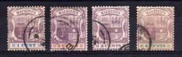 Mauritius - 1895/97 - Definitives (Watermark Crown CA, Part Set) - Used - Mauritius (...-1967)