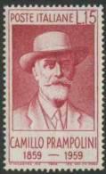 Italy Italie Italia 1959 Mi 1038 ** Camillo Prampolini (1859-1930) Politician + Writer / Politiker + Schriftsteller - Schrijvers