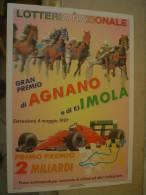 LOCANDINA PUBBLICITARIA LOTTERIA - 1997 - LOTTERIA NAZIONALE - GRAN PREMIO AGNANO E IMOLA F. 1  - 25 X 35 Cm - Lottery Tickets