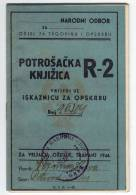 H DEPARTMENT OF TRADE AND SUPPLY CONSUMER BOOKLET FNRJ JUGOSLAVIA ZAGREB CROATIA - Historical Documents