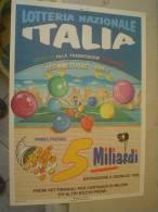 LOCANDINA PUBBLICITARIA LOTTERIA - 1996 - LOTTERIA NAZIONALE ITALIA - SCOMMETTIAMO CHE? - 25 X 35 Cm - Lottery Tickets