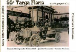 95 TARGA FLORIO 2011 BOLLI CIRCOLO FILATELICO TERMINI IMERESE NON VIAGGIATA - Motorsport