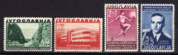 JUGOSLAVIA - 1938 YT 322/325 ** CPL - Nuovi