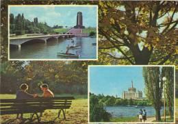 Postcard, Stationery, Stationary, Romania,  Bucharest - Double Views - Herastrau And Libertatii Parc - Entiers Postaux