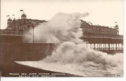 5554 - Rough Sea Over Winter Gardens Palace Pier Brighton - Brighton