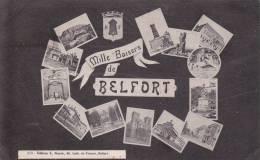 CPA 90 BELFORT ,mille Baisers. (multivues)1934. - Belfort - Ciudad