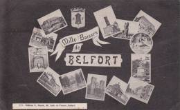 CPA 90 BELFORT ,mille Baisers. (multivues)1934. - Belfort - Ville