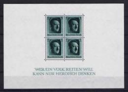 Deutschland: Dt. Reich.  Block 7 MNH / **