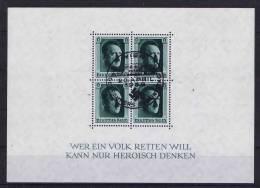 Deutschland: Dt. Reich.  Block 7 Cancelled WIEN !  20 April 1937 - Deutschland