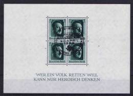 Deutschland: Dt. Reich.  Block 7 Cancelled WIEN !  20 April 1937