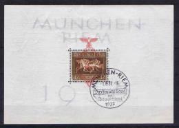 Deutschland: Dt. Reich.  Block 10 Cancelled München 1-aug-1937 Ersttag Stempel Firstday Cancel - Blocks & Kleinbögen