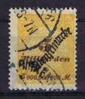 Deutschland: Dt. Reich.  Mi Dienstmark  85 Cancelled